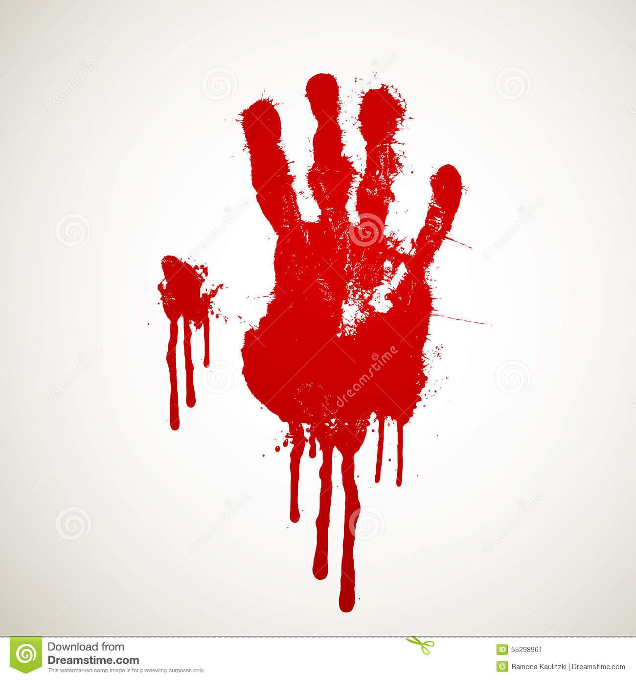 Bloody Hand Print stock illustration. Illustration of clipart.
