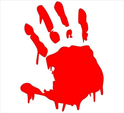 Amazon.com: KEEN Bloody Hand Print Vinyl Decal Sticker Zombie Horror.