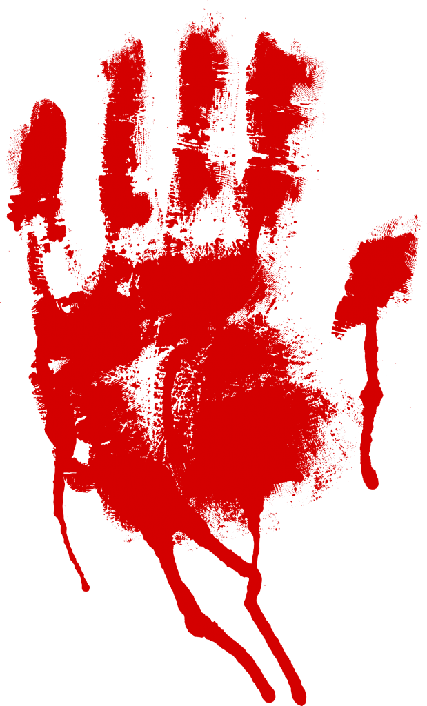 5 Red Bloody Handprint (PNG Transparent).