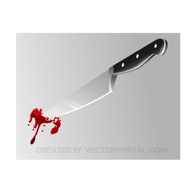 Bloody knife vector image.