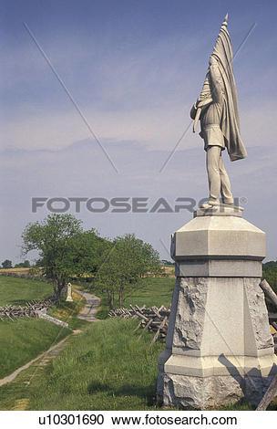 Stock Photography of Antietam, civil war, Sunken Road, Antietam.