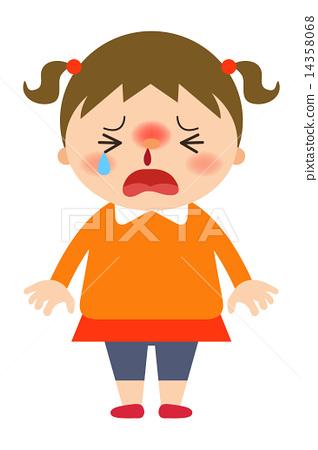 Girls nosebleed.