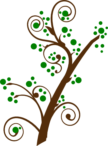 Branch Clip Art with Bloom.