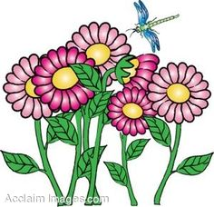 Flower bloom clip art.
