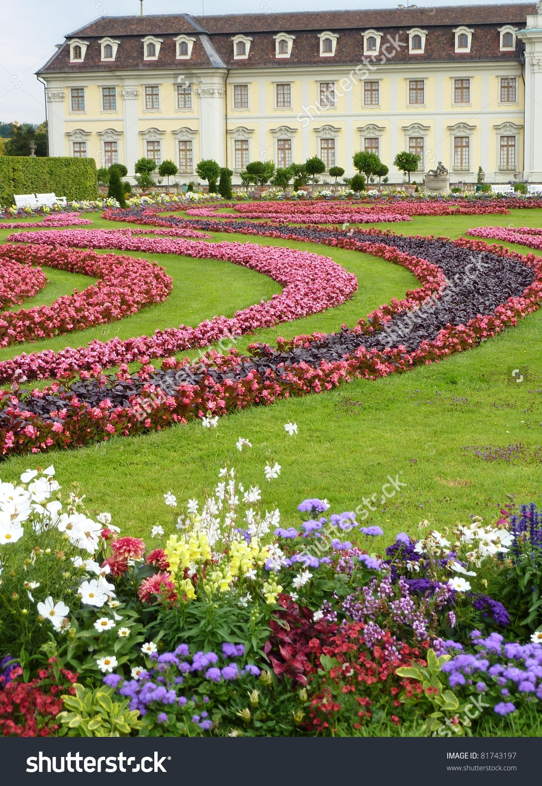 The Baroque Gardens Of Ludwigsburg Castle In Baden Wuertemberg In.