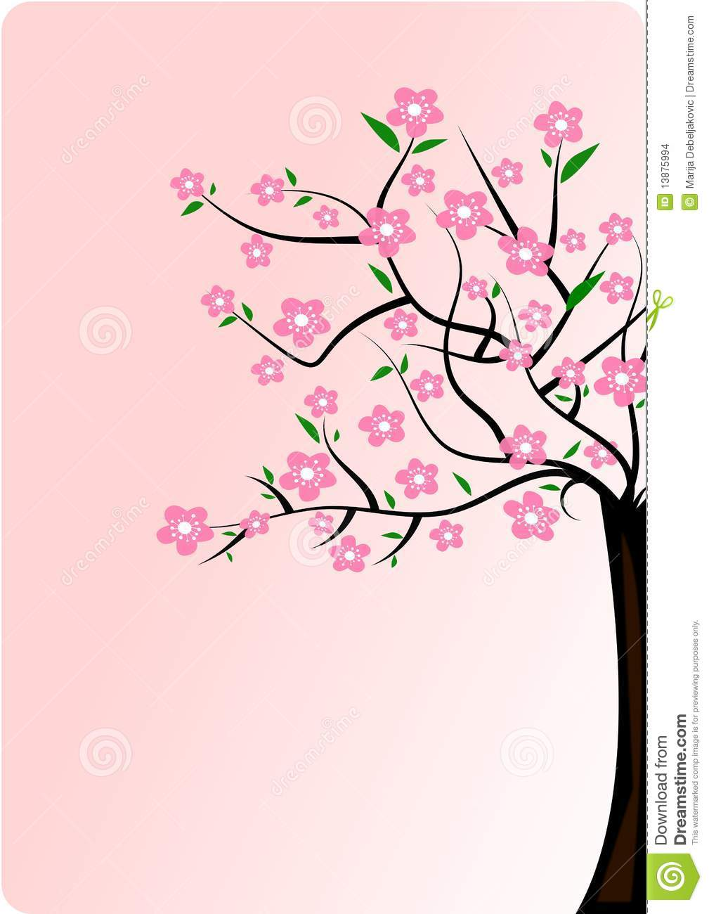 Blooming Cherry Tree Clipart Clipground