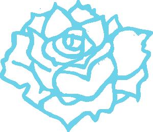 Blue Flower Blooming Clip Art.