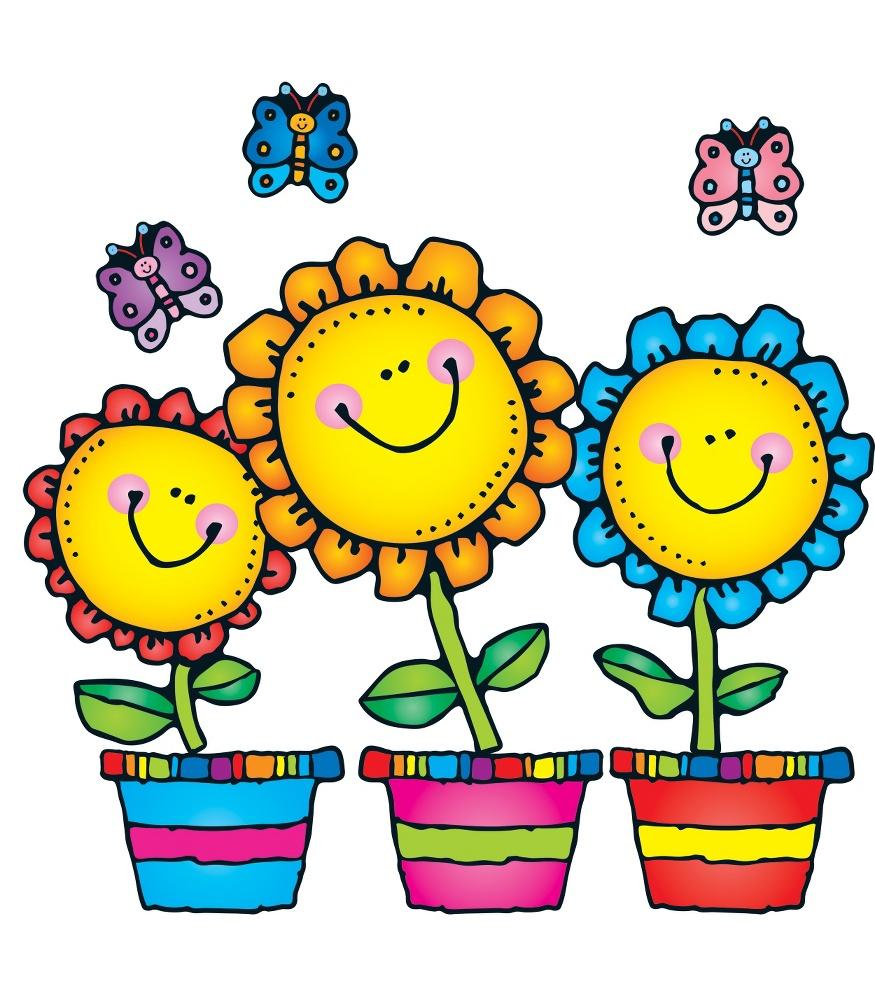 Blooming Flowers Bulletin Board Set.