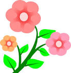 Blooming clip art.