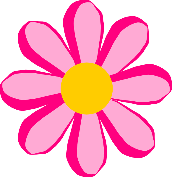 Blooming Flower Clip Art.