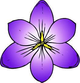 Blooming flower clip art.