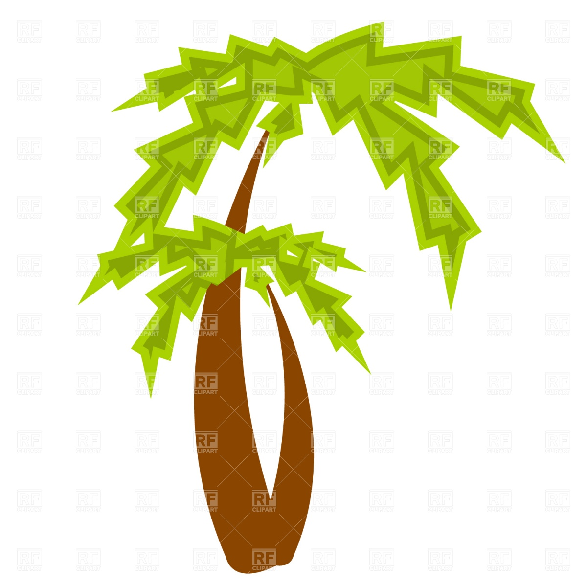 Blooming palm tree clipart #10