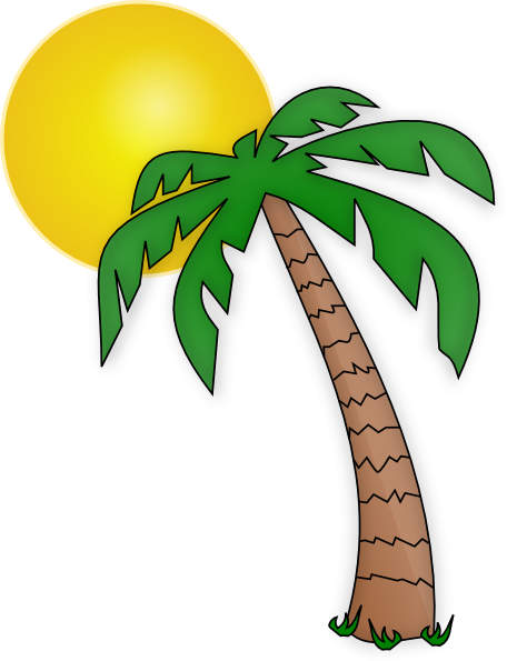 Palm trees clipart #10