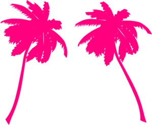Blooming palm tree clipart #9