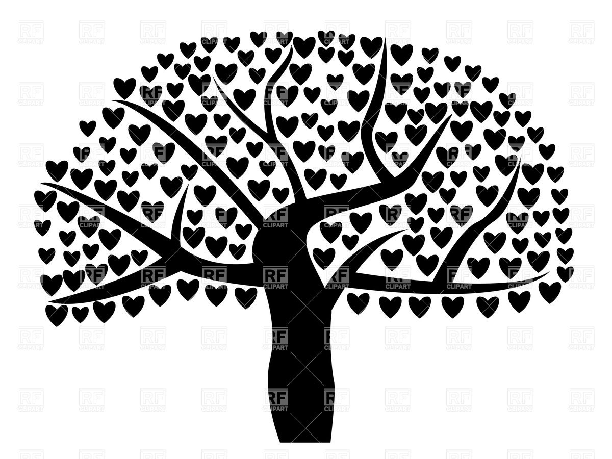 Free tree clipart silhouette.