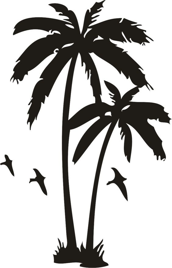 Blooming palm tree clipart #19