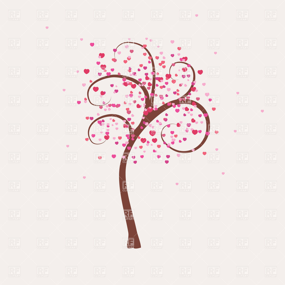 Pink tree clipart.
