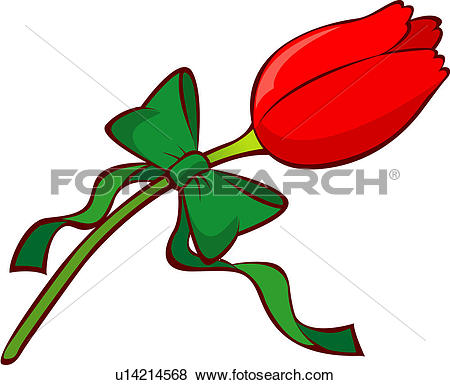 Clip Art of bloom, flower, flowers, plants, plant, blossom, tulip.
