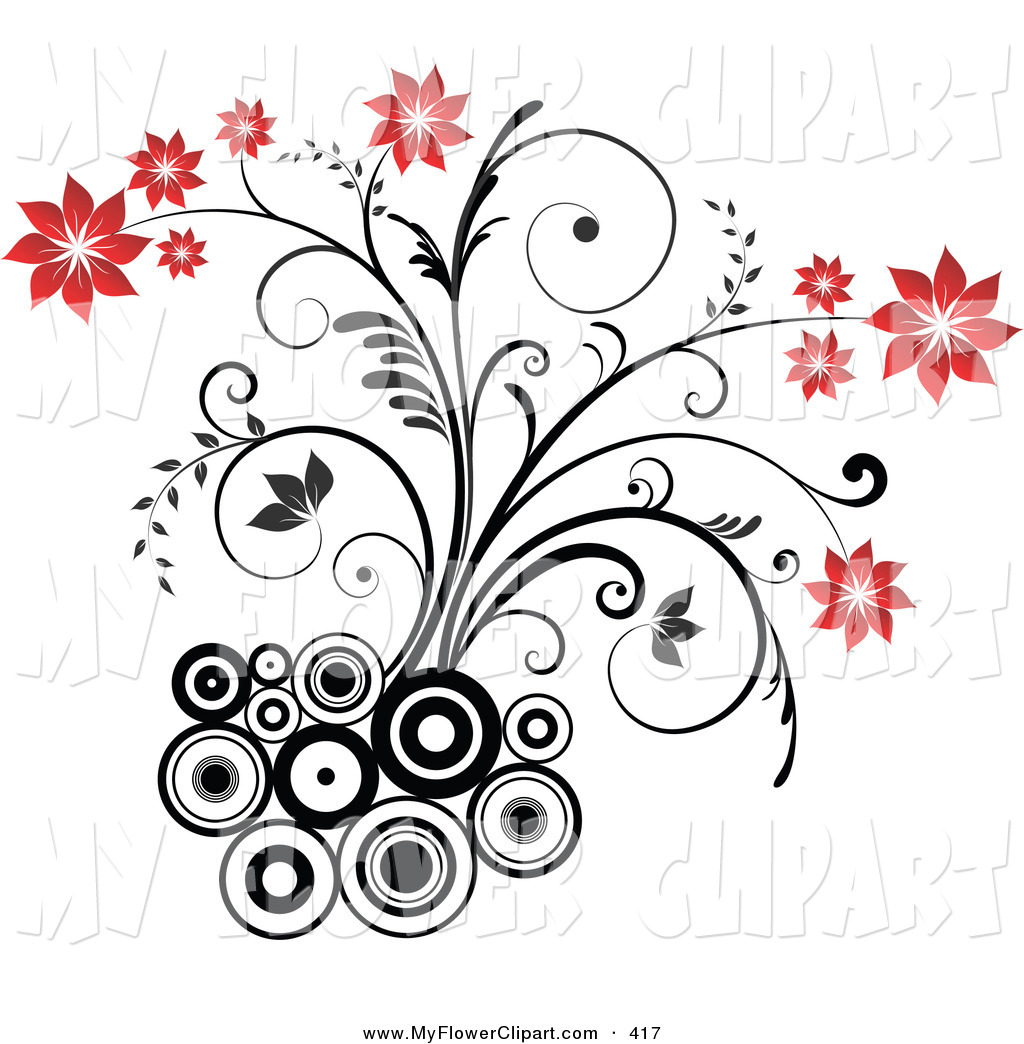 Royalty Free Stock Flower Designs of Website Backgrounds.