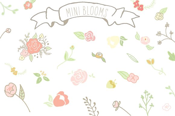 Mini Blooms Clip Art ~ Illustrations on Creative Market.
