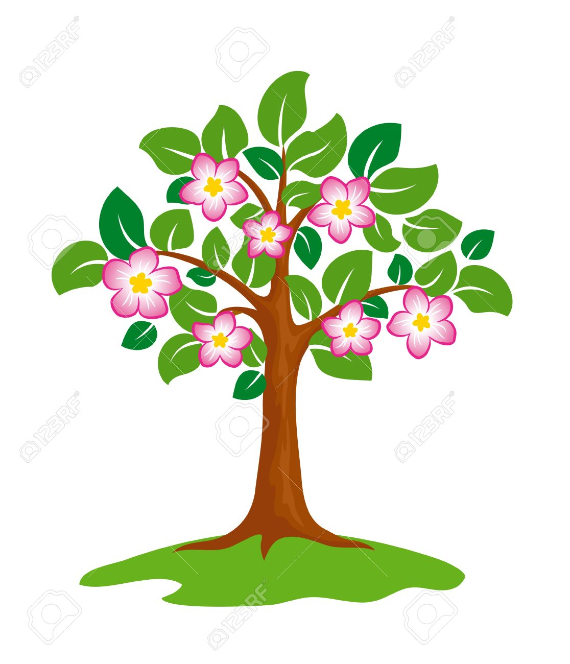 Blooming Tree Clip Art.