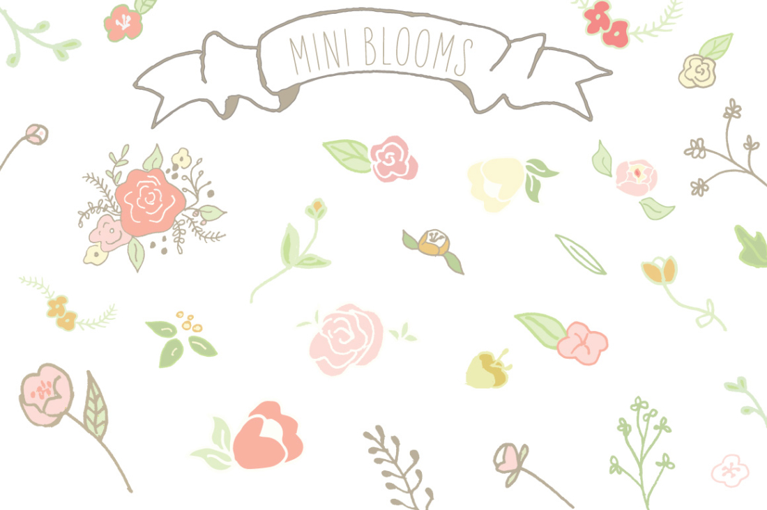 Mini Bloom Clip Art.