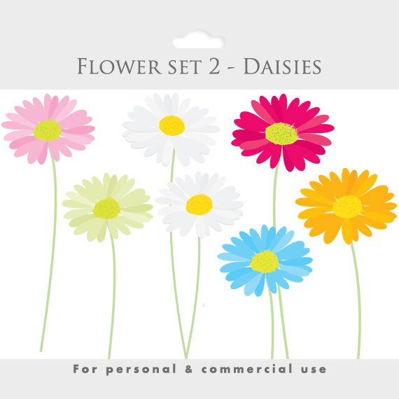 Daisies clipart spring clip art flowers by WinchesterLambourne.