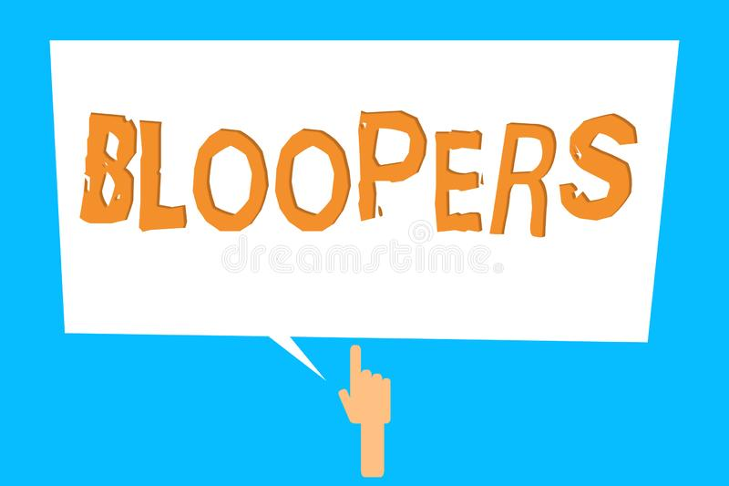 Bloopers Stock Illustrations.