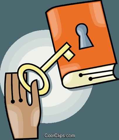 bloqueado livro livre de direitos Vetores Clip Art.