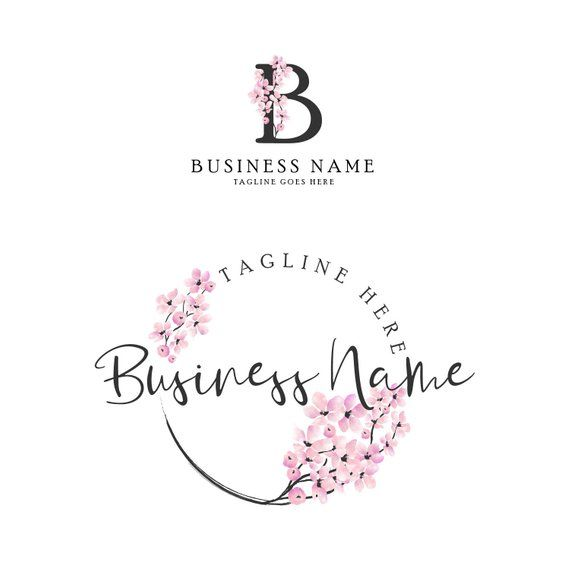 Premade Cherry blossom logo, Sakura logo for a for a Wedding.