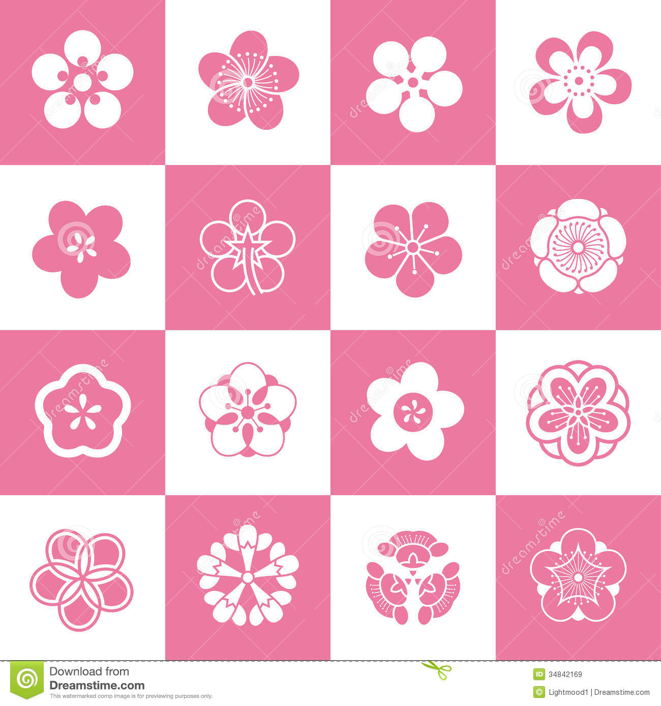 Petal Patterns Of Plum Blossom Royalty Free Stock Images.