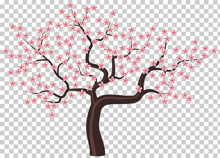 Tree Flower Blossom , Tree with Flowers , illustration of.