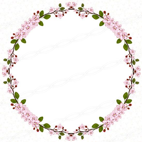 Flower wreath clipart transparent background.