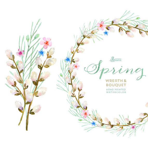 Twig Of Flowers Clipart Clipground