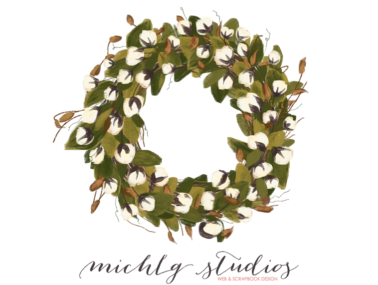 Cotton Blossom Wreath » MichLg studios.