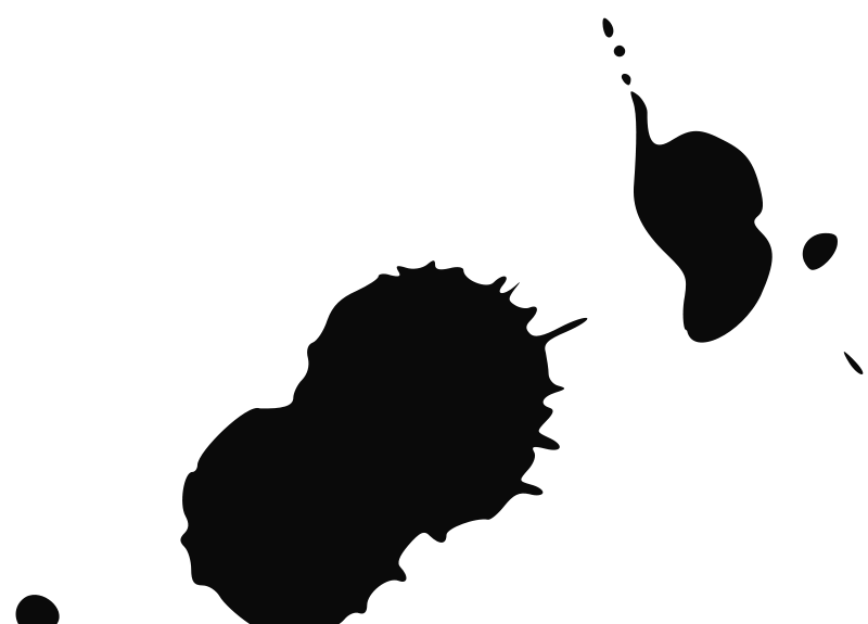 Ink blot clipart.
