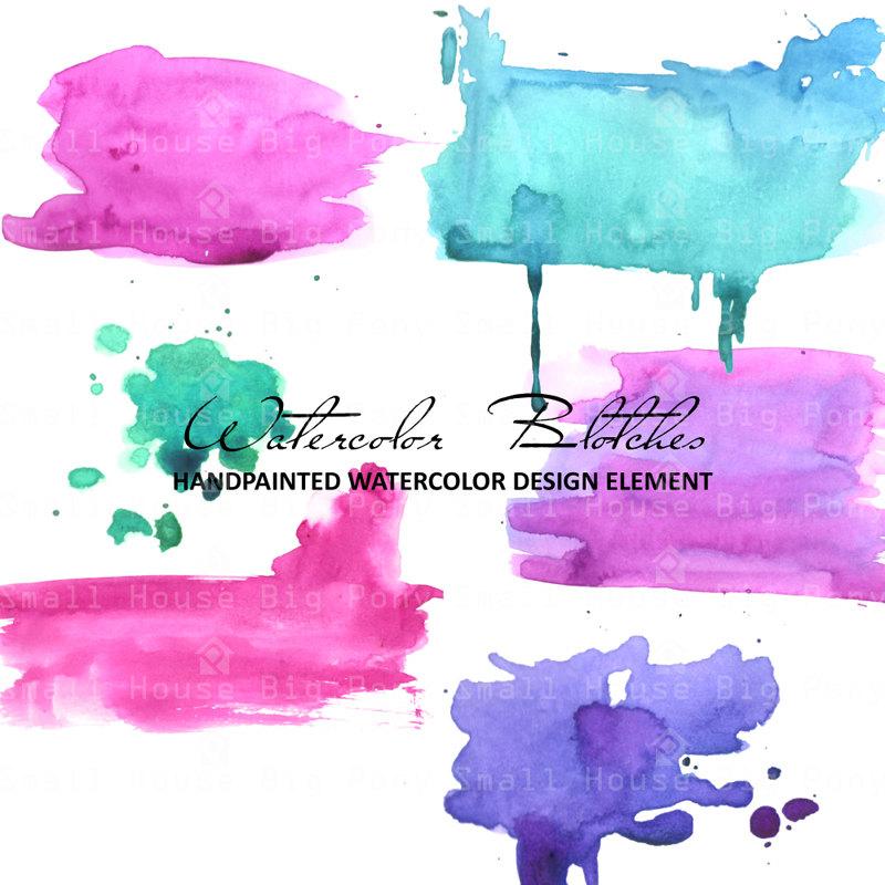 Paint blotch.