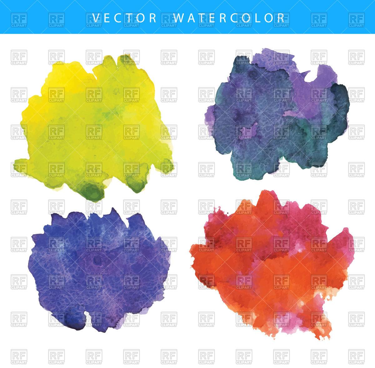 Watercolor blotches Vector Image #50973.
