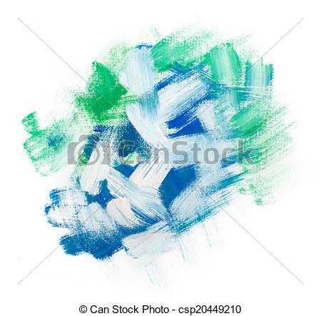 Clipart of Gouache acrylic art paint brush rough dab stroke.