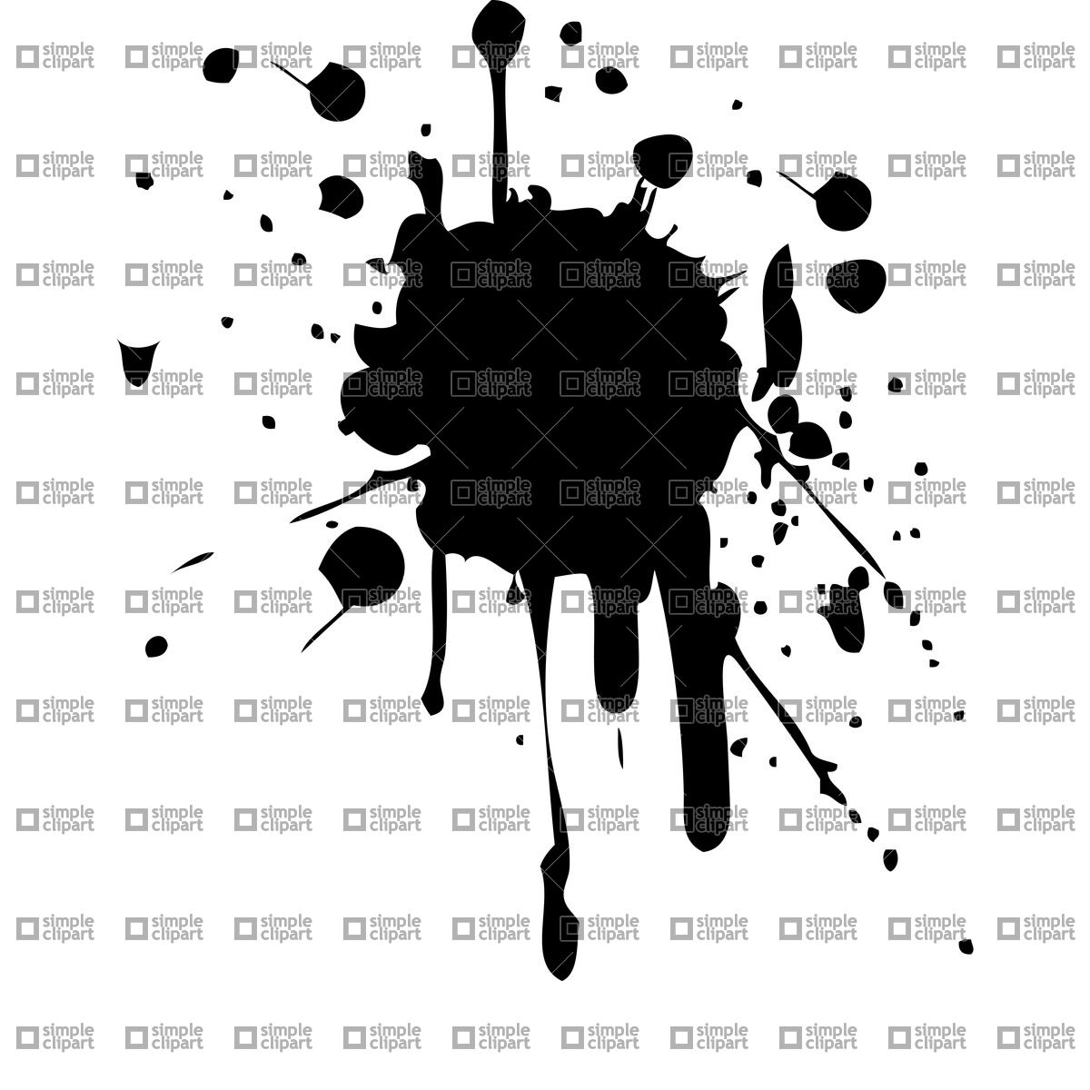 Ink blot Vector Image #21456.