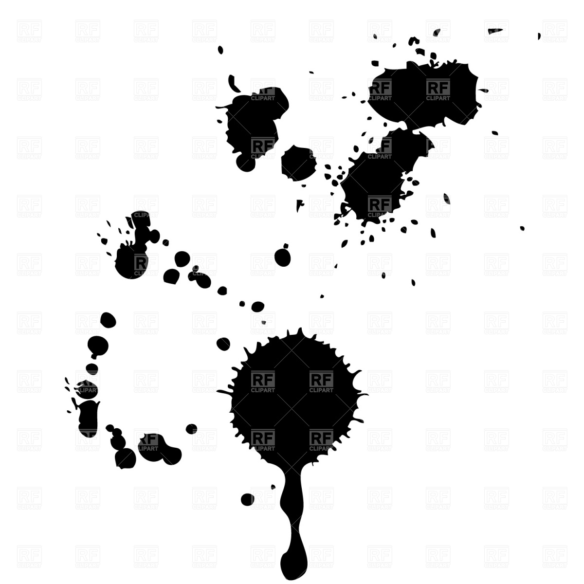 Ink blots Vector Image #1168.
