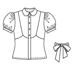 Blouse clipart black and white.