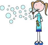 Blowing Bubble Clip Art.