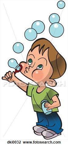 Blow bubbles clipart.