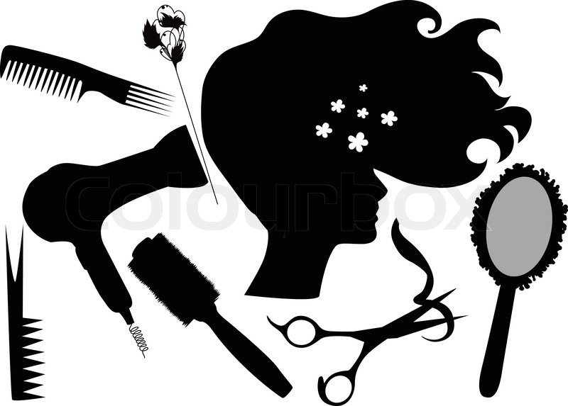 Blow dryer and scissors clipart 8 » Clipart Station.