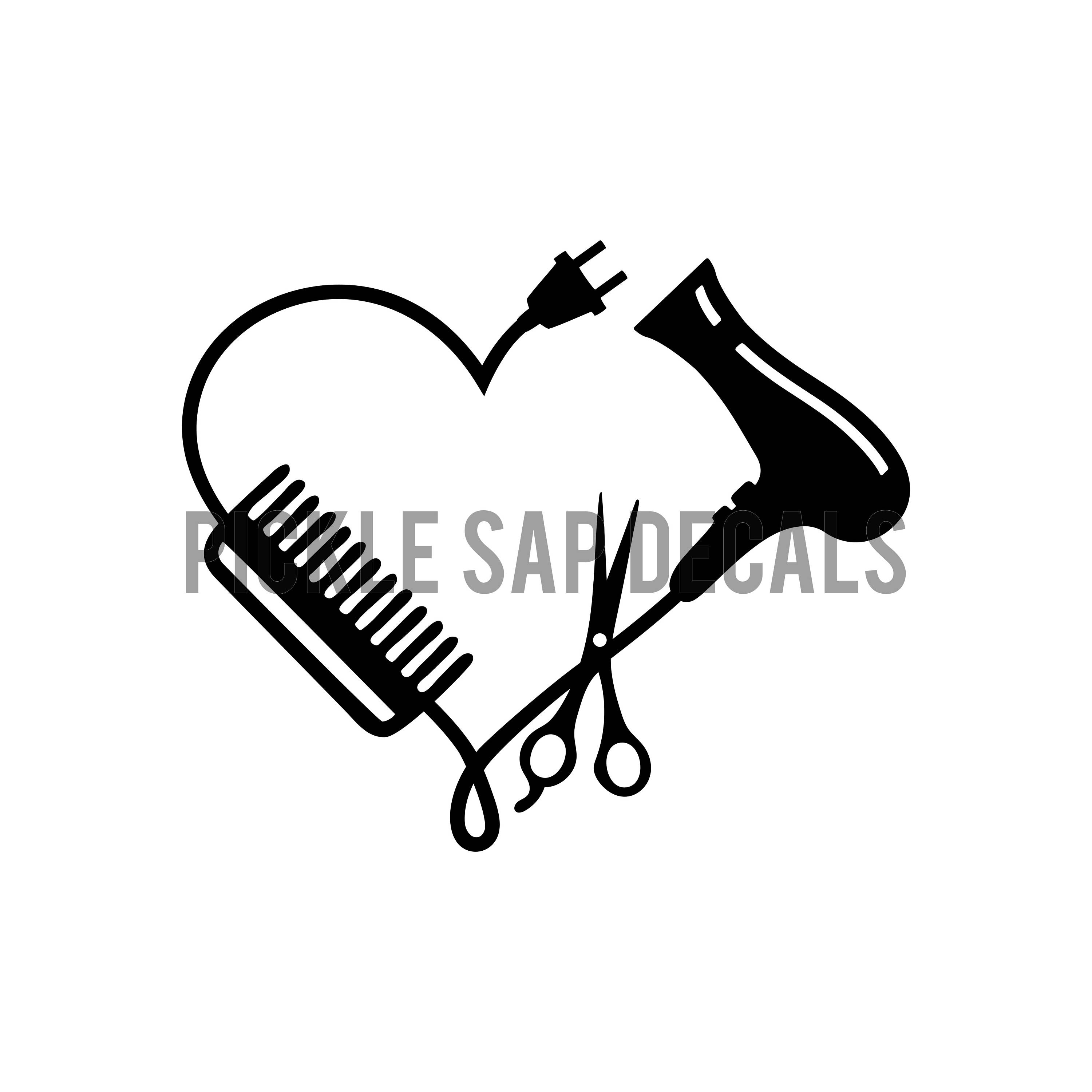 Blow Dryer And Scissors Clipart.