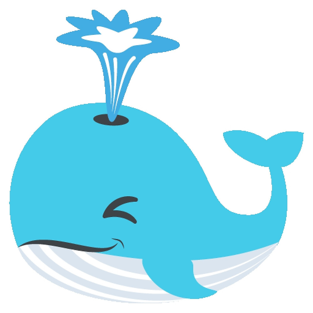 "Whale Emoji (Blowhole)"" by ScrappyDesigns."