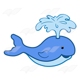 A Beka Book :: Clip Art :: Blue Whale—blowing water out of blowhole.