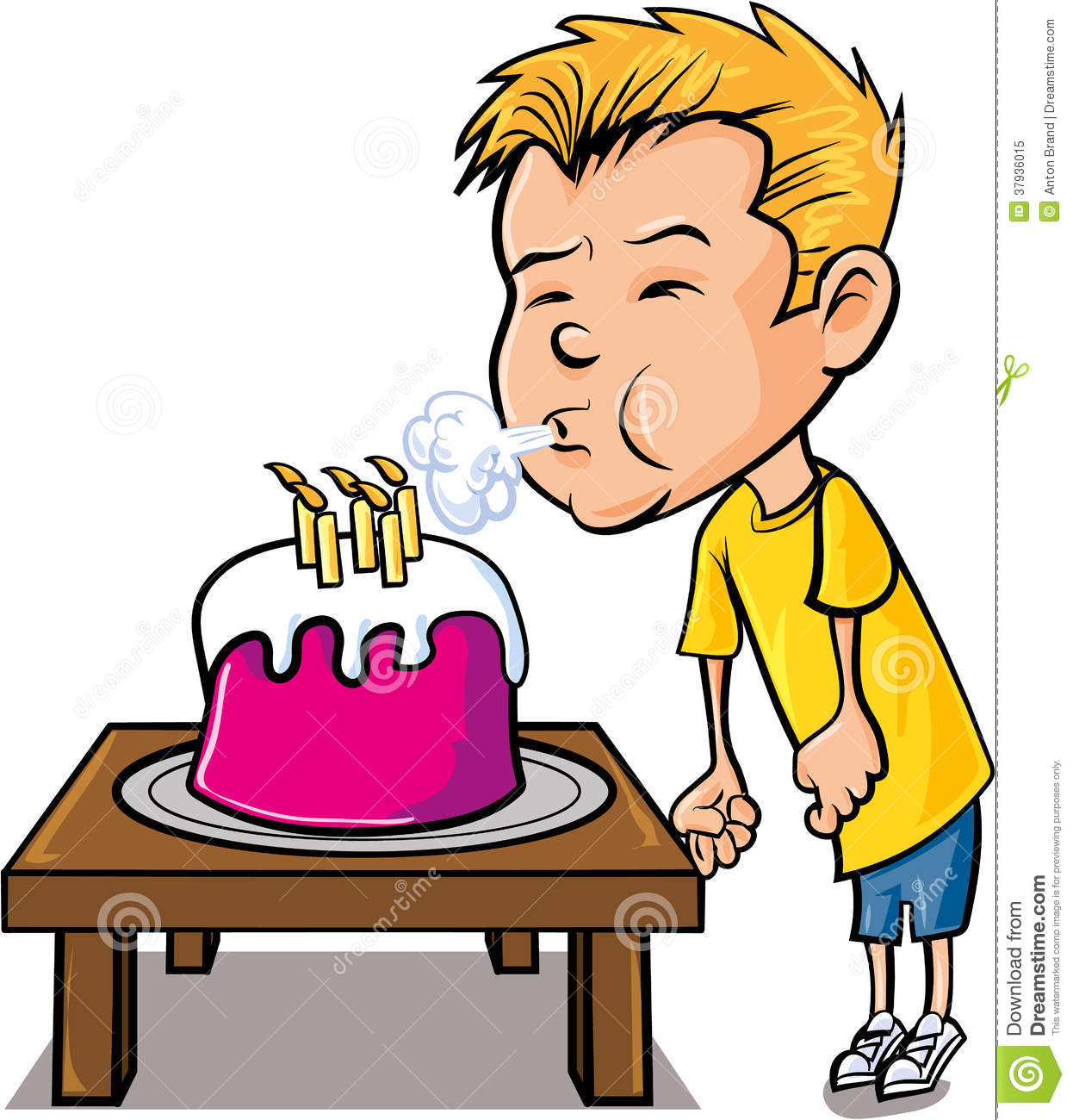 Blow candles clipart.