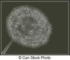 Vector Clip Art of Blowball flower..